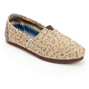 TOMS Snow Leopard Slip Ons